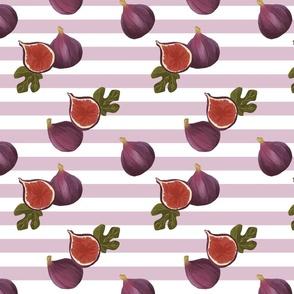 Medium purple figs and stripes