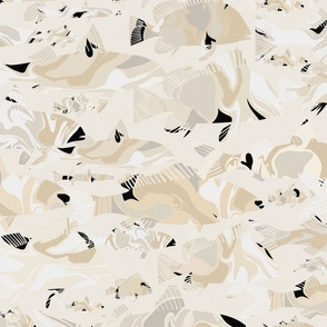 Marble Fishes - Golden Neutrals / Large
