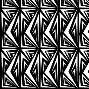 1444-M Black & White Geometric