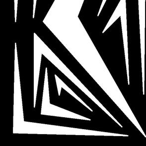 1444-L Black & White Geometric