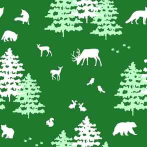 Christmas Green Forest