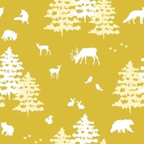 Gold Woodland Winter