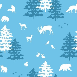 Woodland Blue Christmas