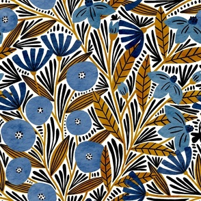 Guinevere (gold and blue)