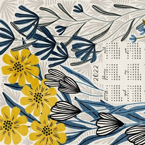 Meadow Calendar 2022 (blue and yellow)