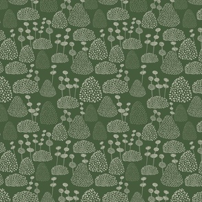 Bobbly Trees Green