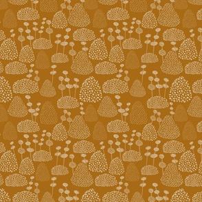 Bobbly Trees Mustard