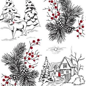 Berry Christmas Rudolph