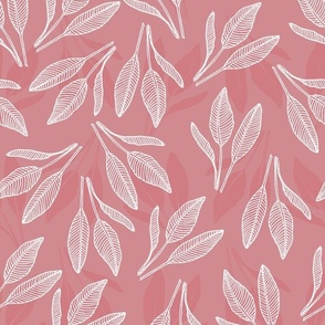 leaves with stripes mauve