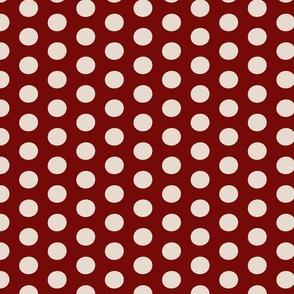 Christmas Polka Dark Red