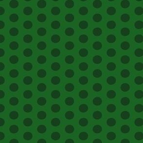 Christmas Polka Forest Green