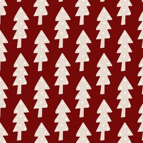 Christmas Tree Dark Red