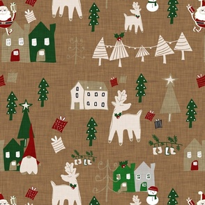 Holiday Toile Sienna