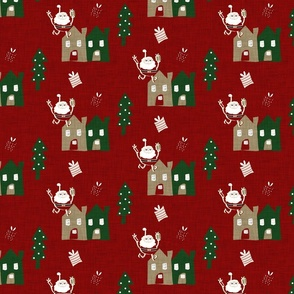 Santa Dark Red