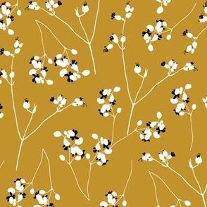 bladder campion autumn yellow
