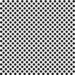 Polka dots- black white