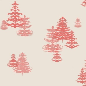 Evergreens in Red