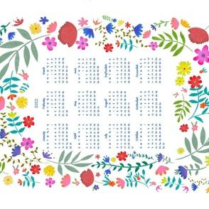 2022 floral calendar