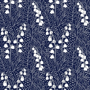 Lily Of The Valley - Navy Blue