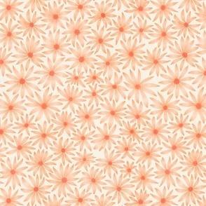 watercolor flowers - orange - small scale