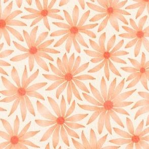 watercolor flowers - orange