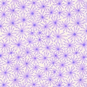 watercolor flowers - purple - small scale