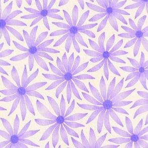 watercolor flowers - purple
