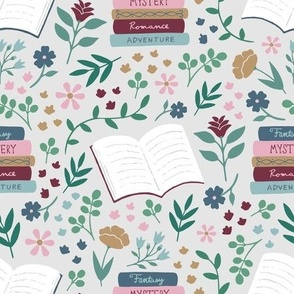 Book Floral - Gray