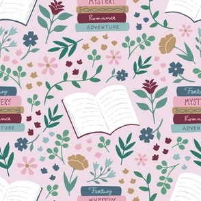 Book Floral - Pink