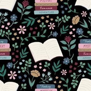 Book Floral - Black