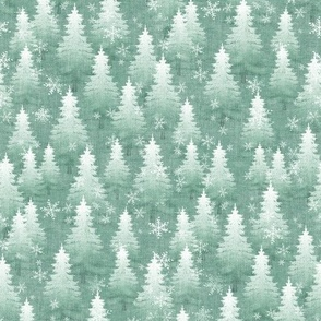 Green Pine Tree Forest - small scale