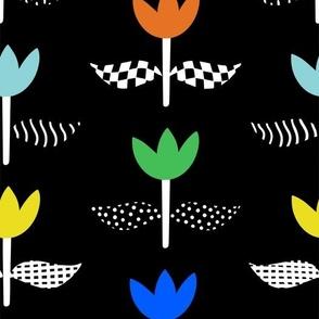 Tulip Field - Black
