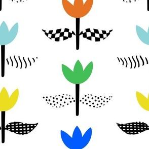 Tulip Field - White