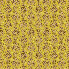 Yellow folk florals
