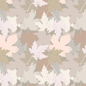 Blaetter Herbstboden greige