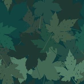Blaetter Herbstboden grün