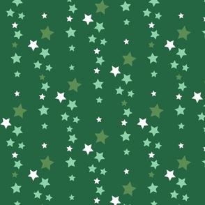 Falling Stars on green sky
