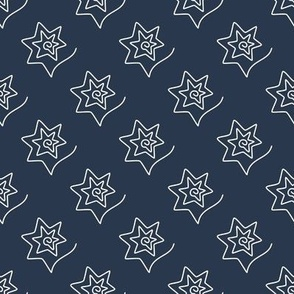 Curved Stars on navy blue
