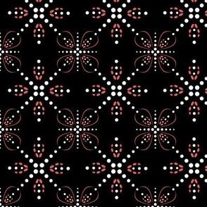 Beaded Stars on  black