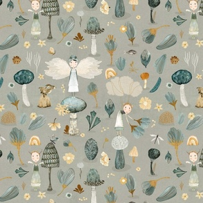 Micro Flora & Fauna grey {small}