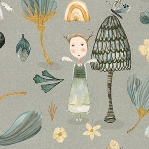 Micro Flora & Fauna grey {large}