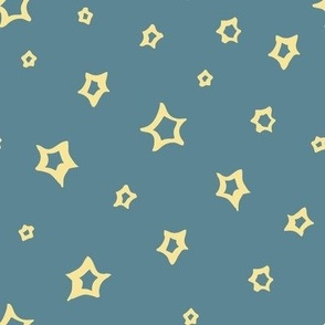 Christmas Stars in the blue sky