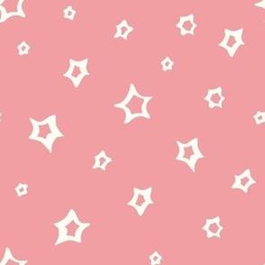 Chrismas Stars on pink
