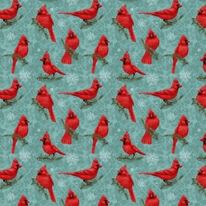 Northern Cardinals Blue Gray