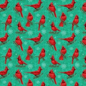Northern Cardinals Bright Green