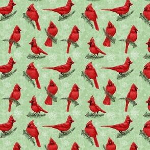 Northern Cardinals Green