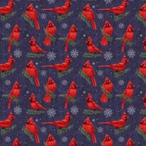 Northern Cardinals Purple