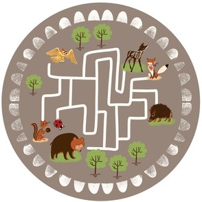 Woodland animals playmat with in 42x36inch sand