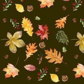 Autumn Medley - Dark Brown