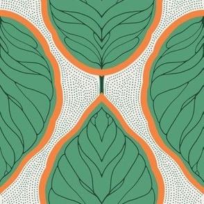 Scandinavian leaf - green - medium